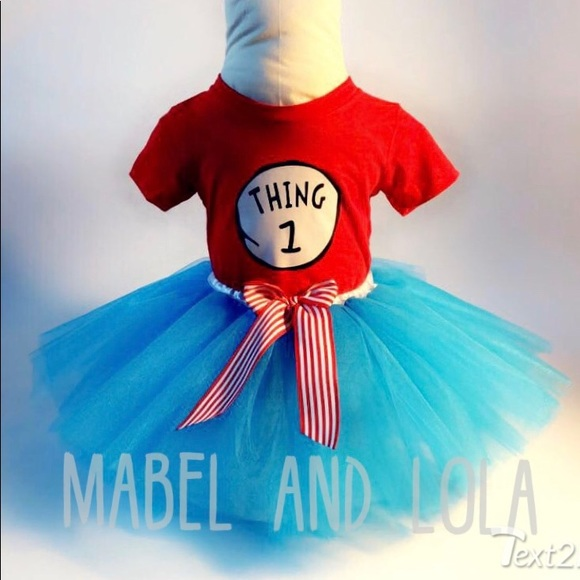 6ab4c5a1409fa Mabel and Lola Costumes | Thing 1 Or 2 Tutu Costume Outfit Girls Sz ...